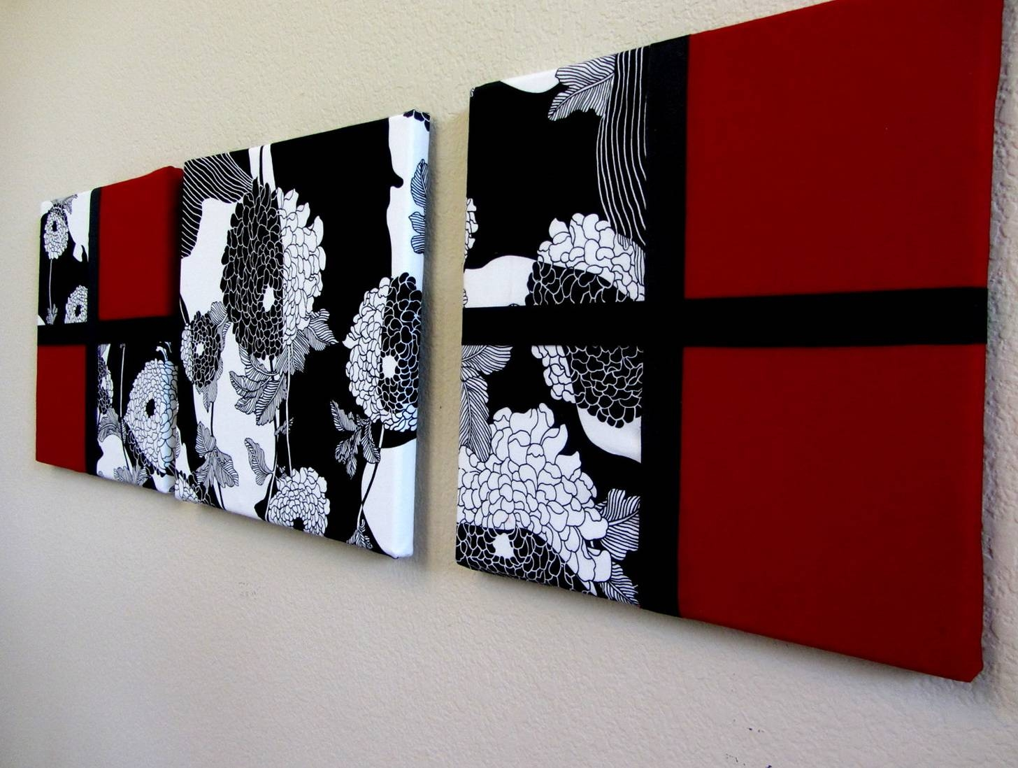 The best black and white wall art with red for Red wall art