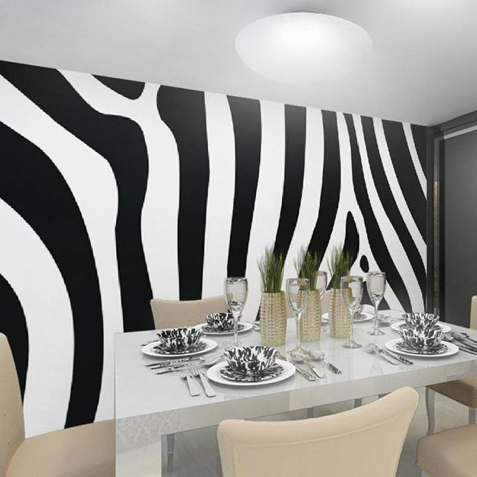 Black White Art Zebra 3d Room Animal Custom Photo Natural In 2018 Zebra 3d Wall Art (View 16 of 20)