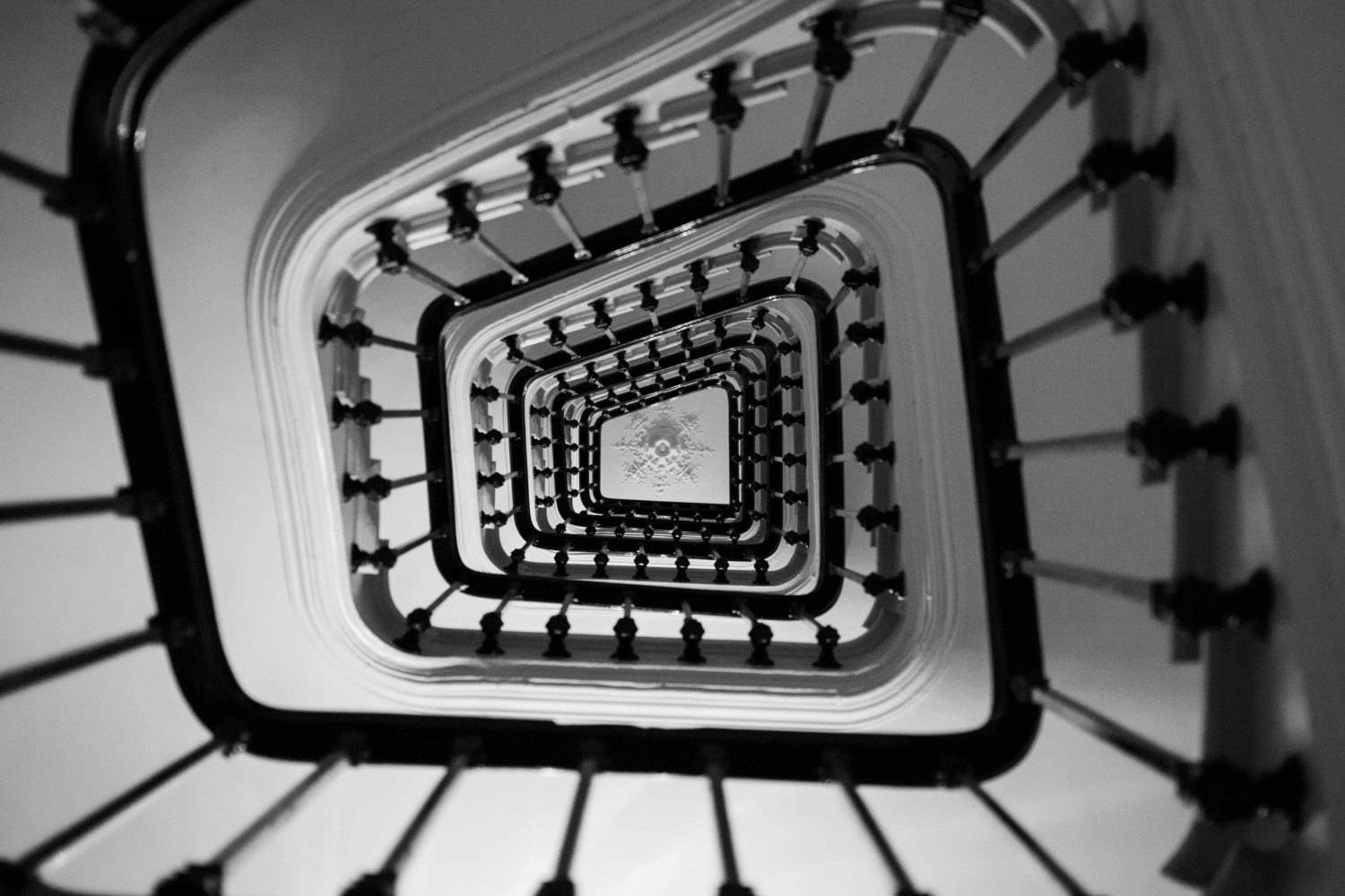 Black & White Photos: Paris Photography – Taking The Stairs In Regarding Most Up To Date Black And White Paris Wall Art (View 6 of 25)