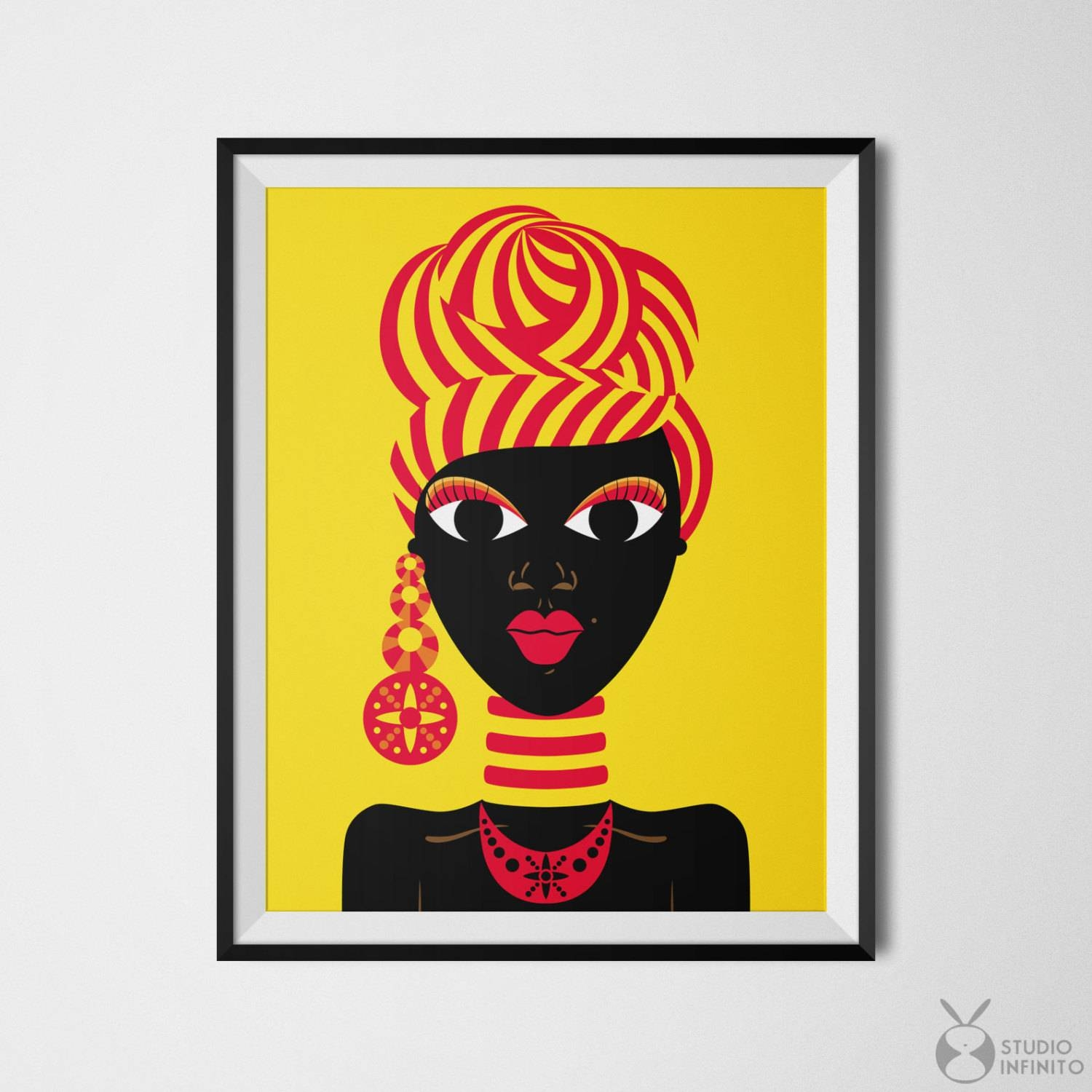 Black Woman Art African Woman Black Girl Art African Gifts Pertaining To Most Recent African American Wall Art And Decor (View 7 of 20)