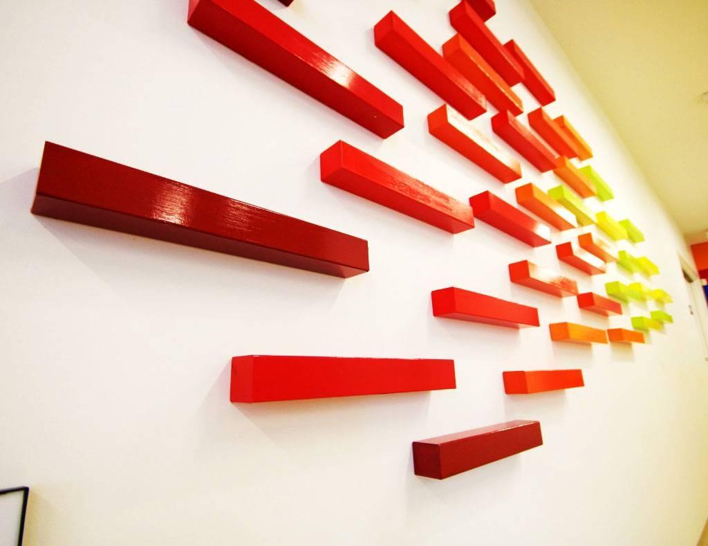 Blazing A New Horizon | 3D Wall Art | Rosemary Pierce Modern Art For Most Current Cubes 3D Wall Art (View 13 of 20)