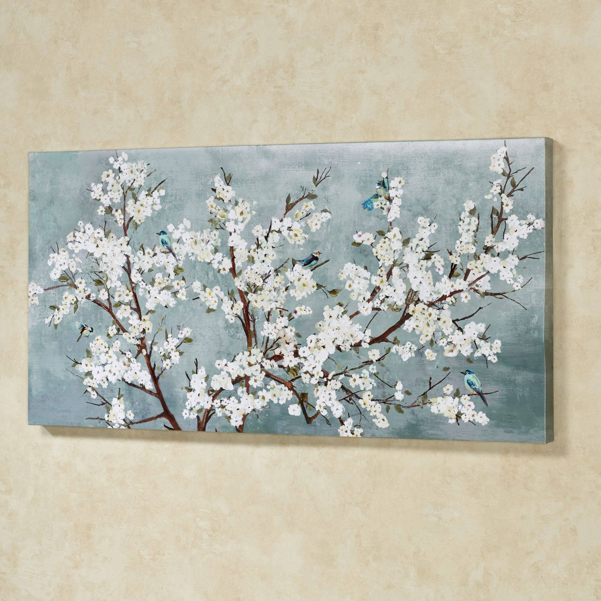 Blissful Branches Floral Canvas Wall Art Inside Recent Blue And White Wall Art (View 8 of 20)