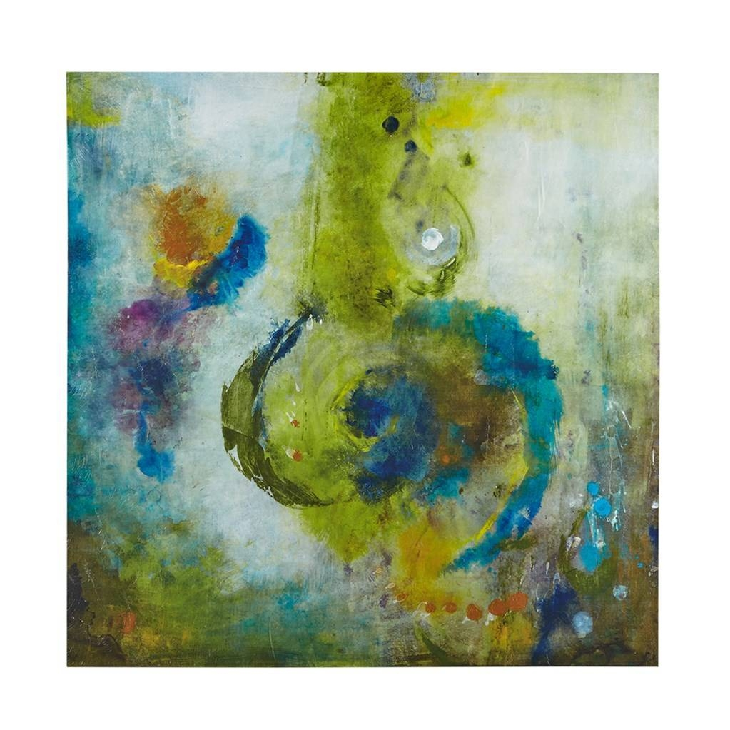 Blue & Gold Abstract Wave Wall Art – Set Of 3 For Best And Newest Blue And Green Wall Art (View 6 of 20)