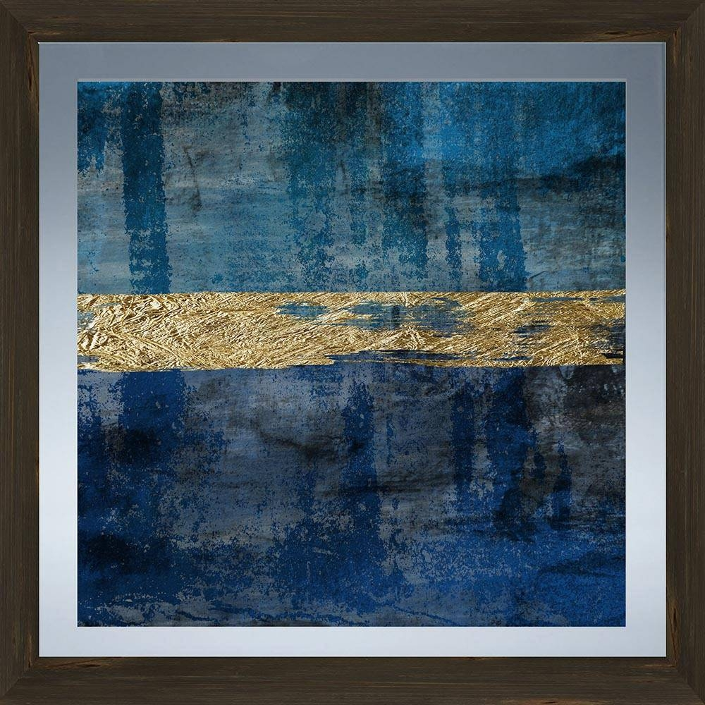 Blue Movement Glass Wall Art Framed – Ptmimages Within Recent Blue Wall Art (Gallery 4 of 20)