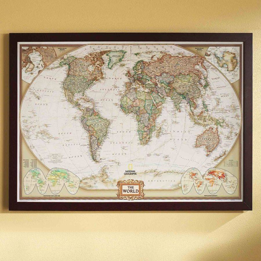 Blue World Map Wall Art — Rs Floral Design : Diy Mural World Map Intended For Latest Map Wall Art (View 3 of 25)