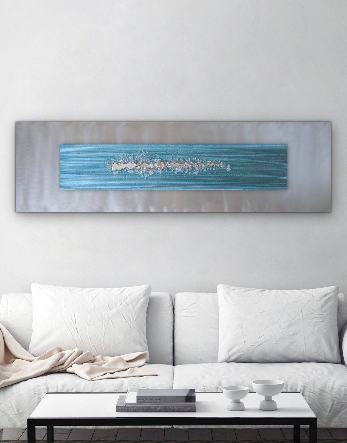Blue Zircon – Silver Wall Art, Contemporary Art Uk For Most Popular Blue And Silver Wall Art (View 12 of 20)