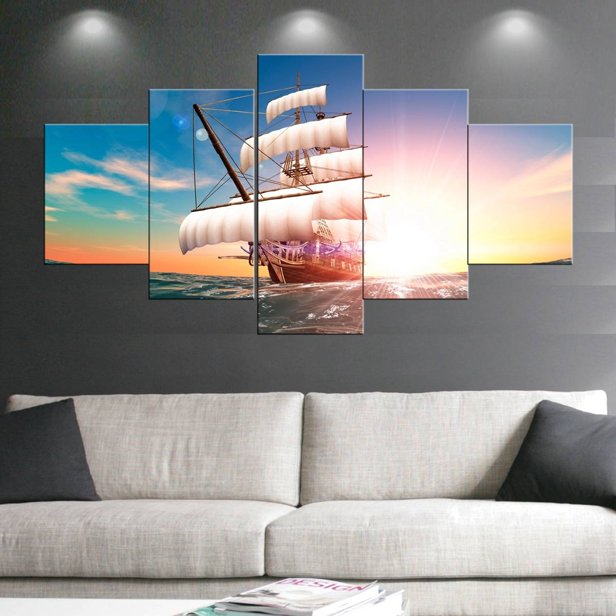 Boat Sail Paintings Wall Art Giclee Canvas Prints Landscape In Best And Newest Art Prints To Hang On Your Wall (View 6 of 15)