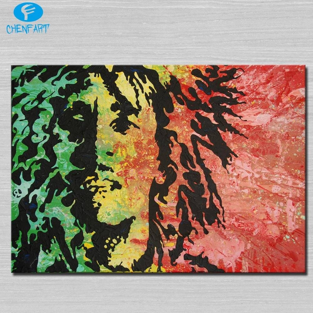 Bob Marley Painting Wall Picture Abstract Art Wall Painting For Throughout Newest Bob Marley Canvas Wall Art (View 9 of 25)
