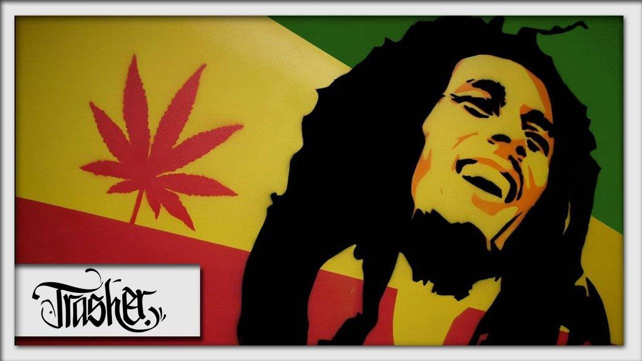 Bob Marley Speed Painting On Canvas – By: Trasher – Youtube For Most Recent Bob Marley Canvas Wall Art (View 10 of 25)