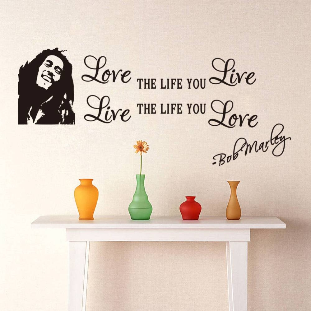 Bob Marley Wall Art Quotes – Wall Murals Ideas Intended For Most Up To Date Bob Marley Wall Art (View 15 of 30)