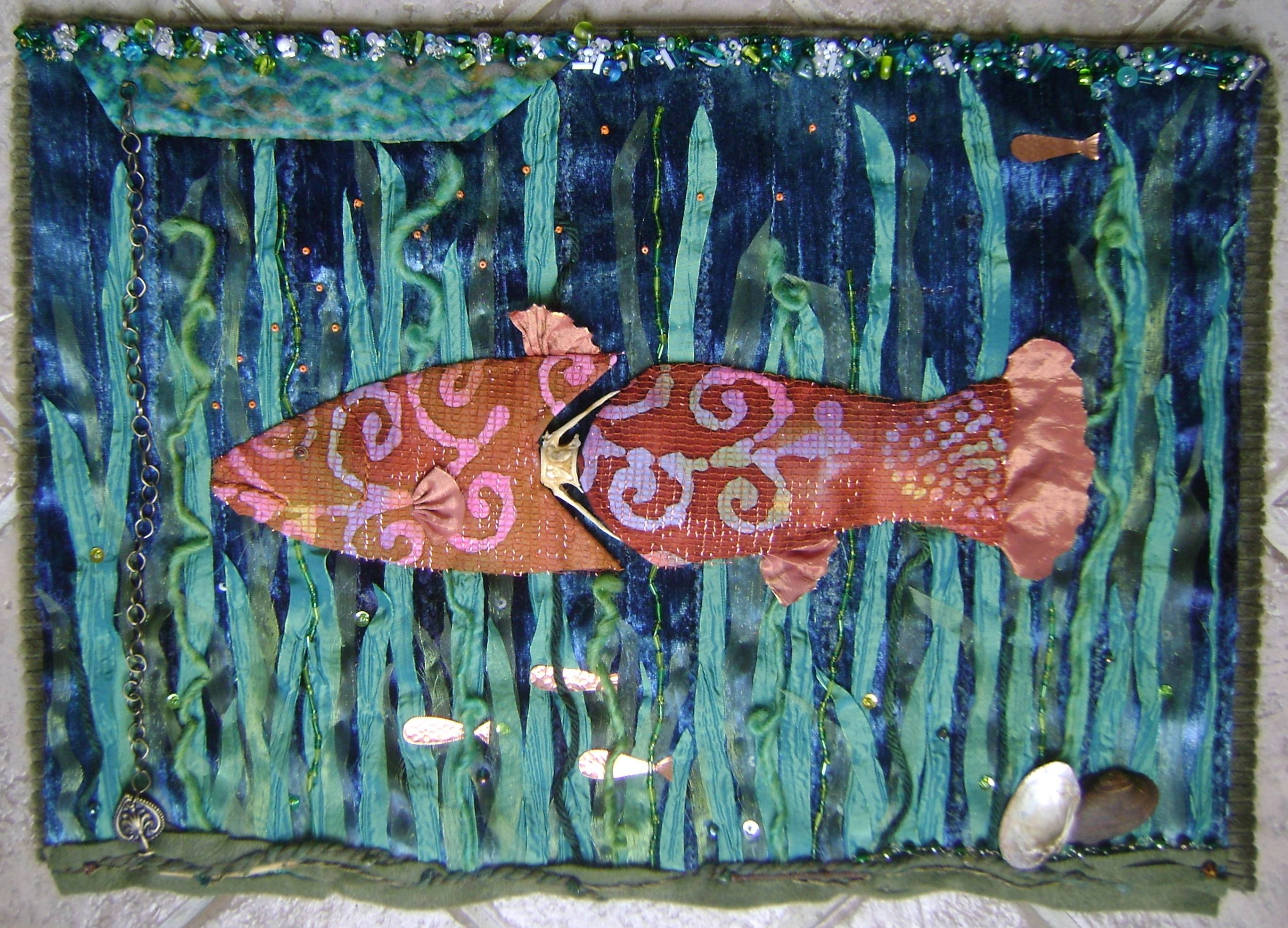 Bone Fish Fiber Art Wall Hanging – Artfilled Notions With Regard To Best And Newest Fish Bone Wall Art (View 6 of 20)