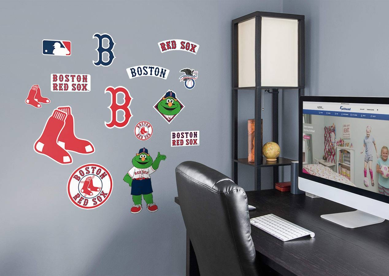 Boston Red Sox – Logo Assortment Wall Decal | Shop Fathead® For Pertaining To Best And Newest Red Sox Wall Decals (View 2 of 30)