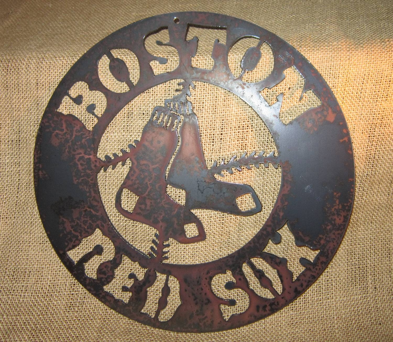 Boston Red Sox Metal Art Intended For Most Up To Date Red Sox Wall Decals (View 9 of 30)