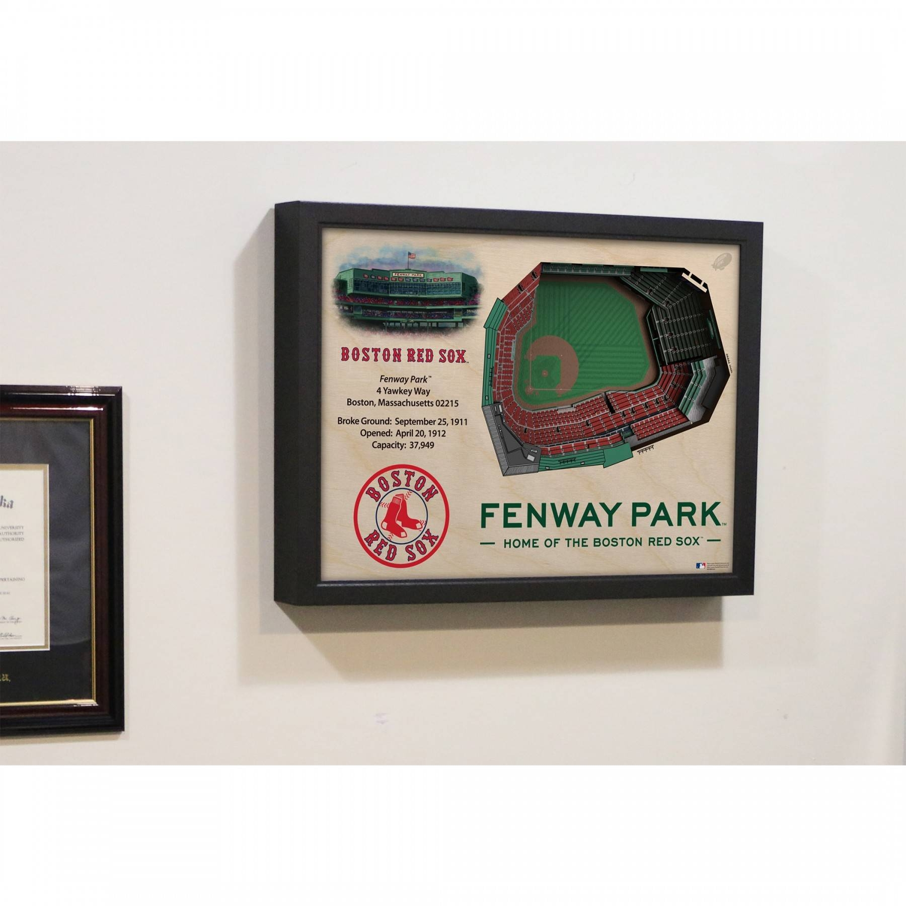 Boston Red Sox Stadiumview Wall Art – Fenway Park 3 D Reproduction Intended For Newest Boston Red Sox Wall Art (View 13 of 25)