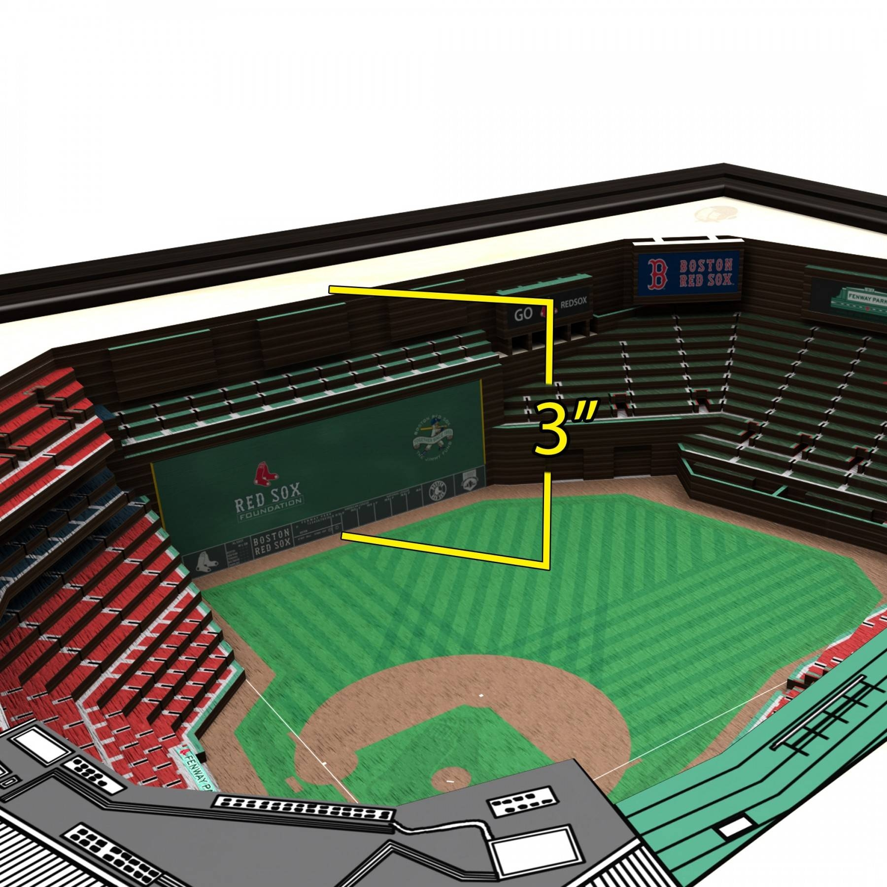 Boston Red Sox Stadiumview Wall Art – Fenway Park 3 D Reproduction Intended For Recent Red Sox Wall Art (View 11 of 23)