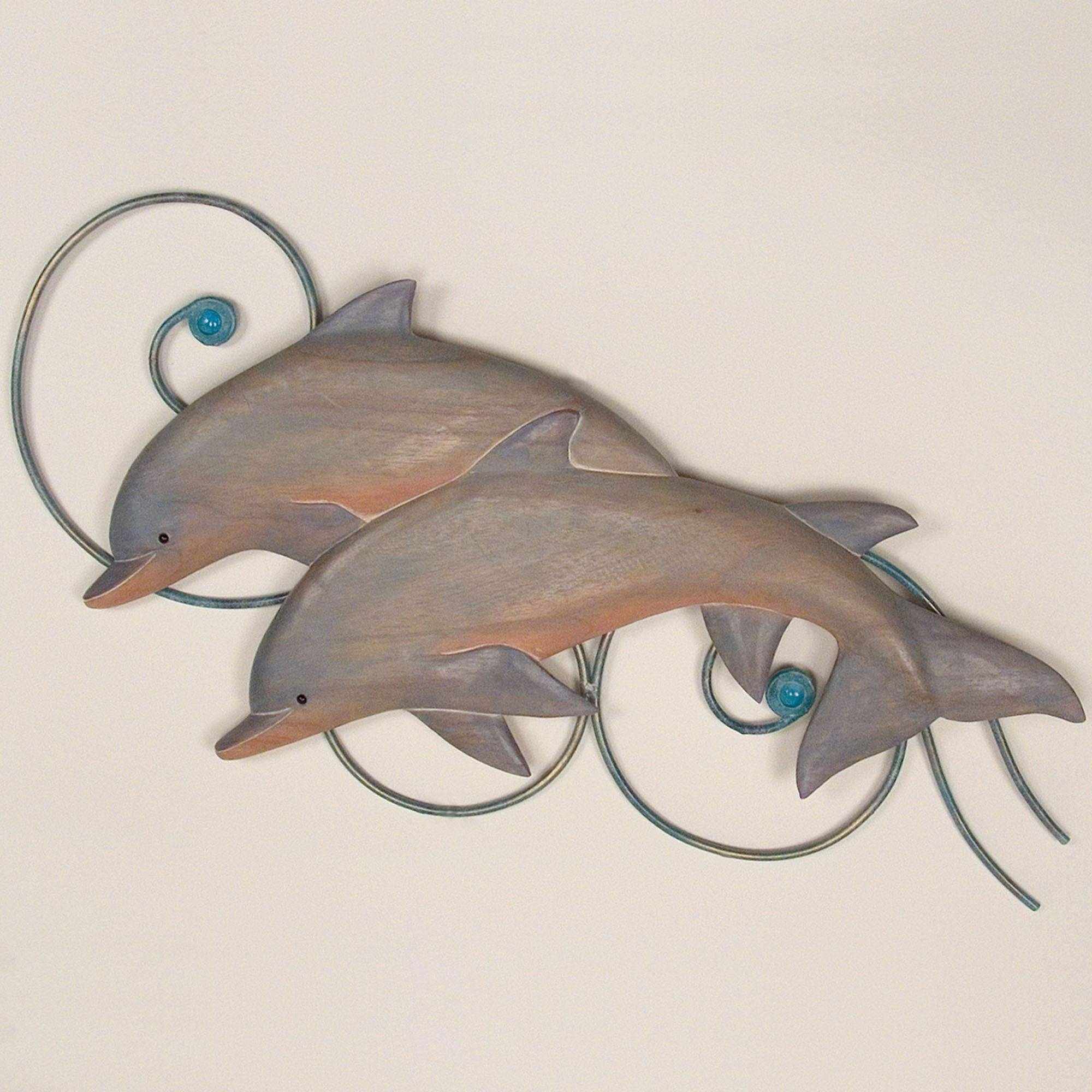 Bottlenose Dolphins Indoor Outdoor Wall Sculpture Throughout 2017 Outdoor Wall Sculpture Art (View 5 of 20)