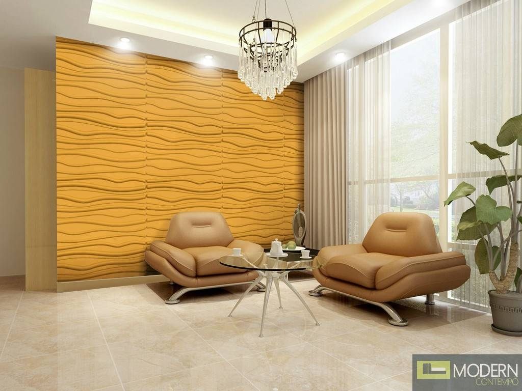 Breeze  Textured High Grade Polymer Glue On Wall 3D Tiles Inside 2017 3D Wall Art For Living Room (View 9 of 20)