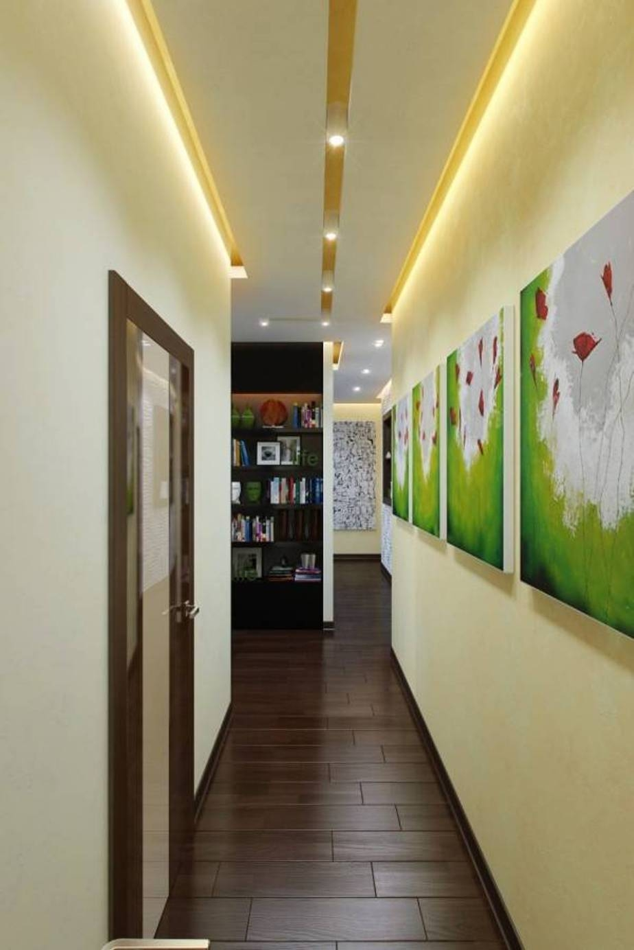 Bright Hallway Colour Ideas With Led Lighting And Wall Art Gallery Regarding Most Popular Wall Art Ideas For Hallways (View 13 of 20)