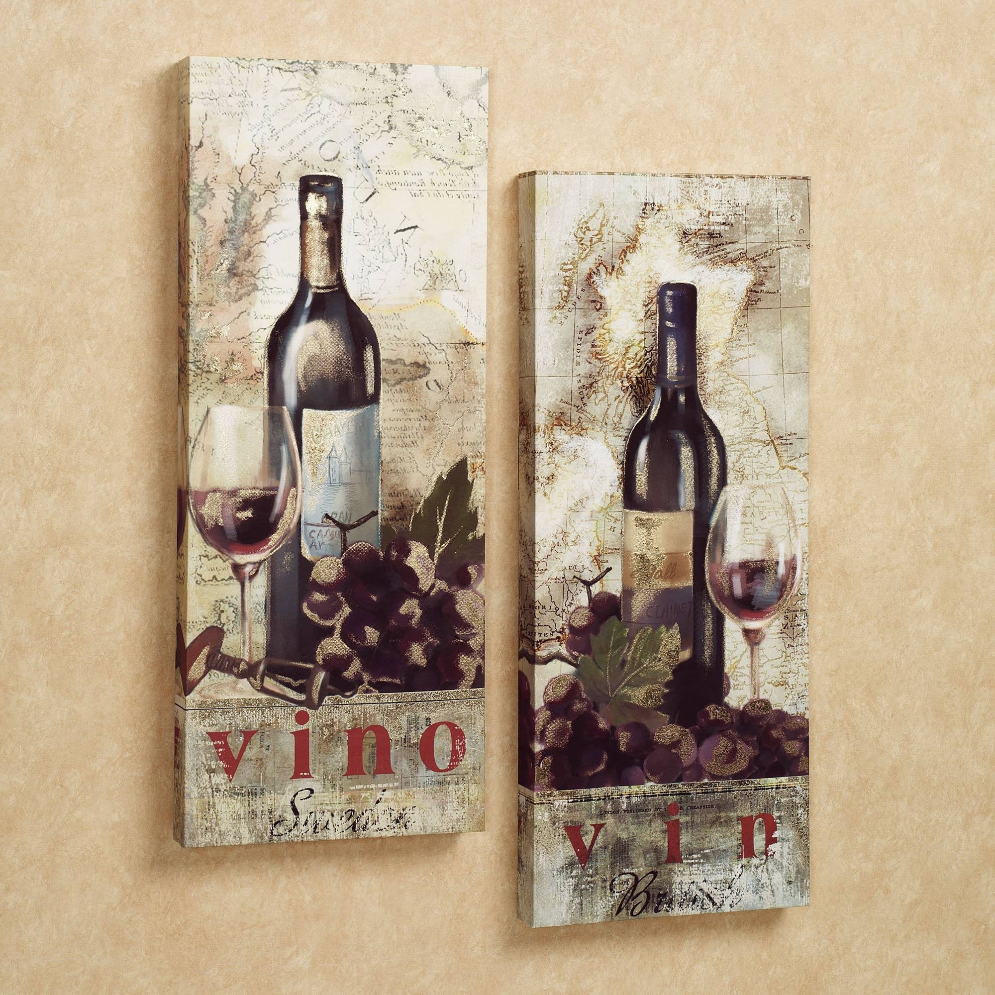 Brilliant Design Wine Wall Decor Sensational Cellar Reds Wine And In Most Up To Date Grape Wall Art (View 6 of 22)