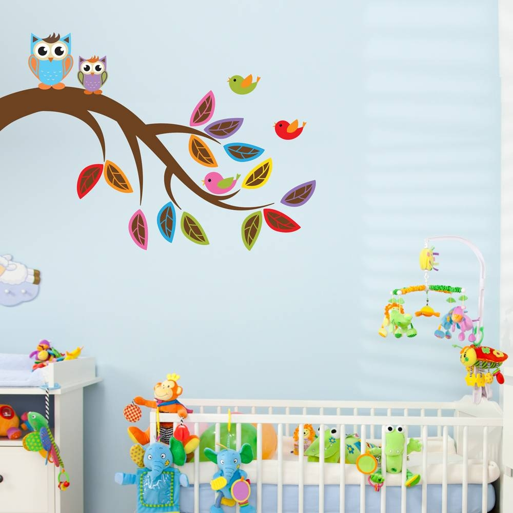 Brother And Sister Owl Wall Decal Within Current Owl Wall Art Stickers (View 2 of 15)