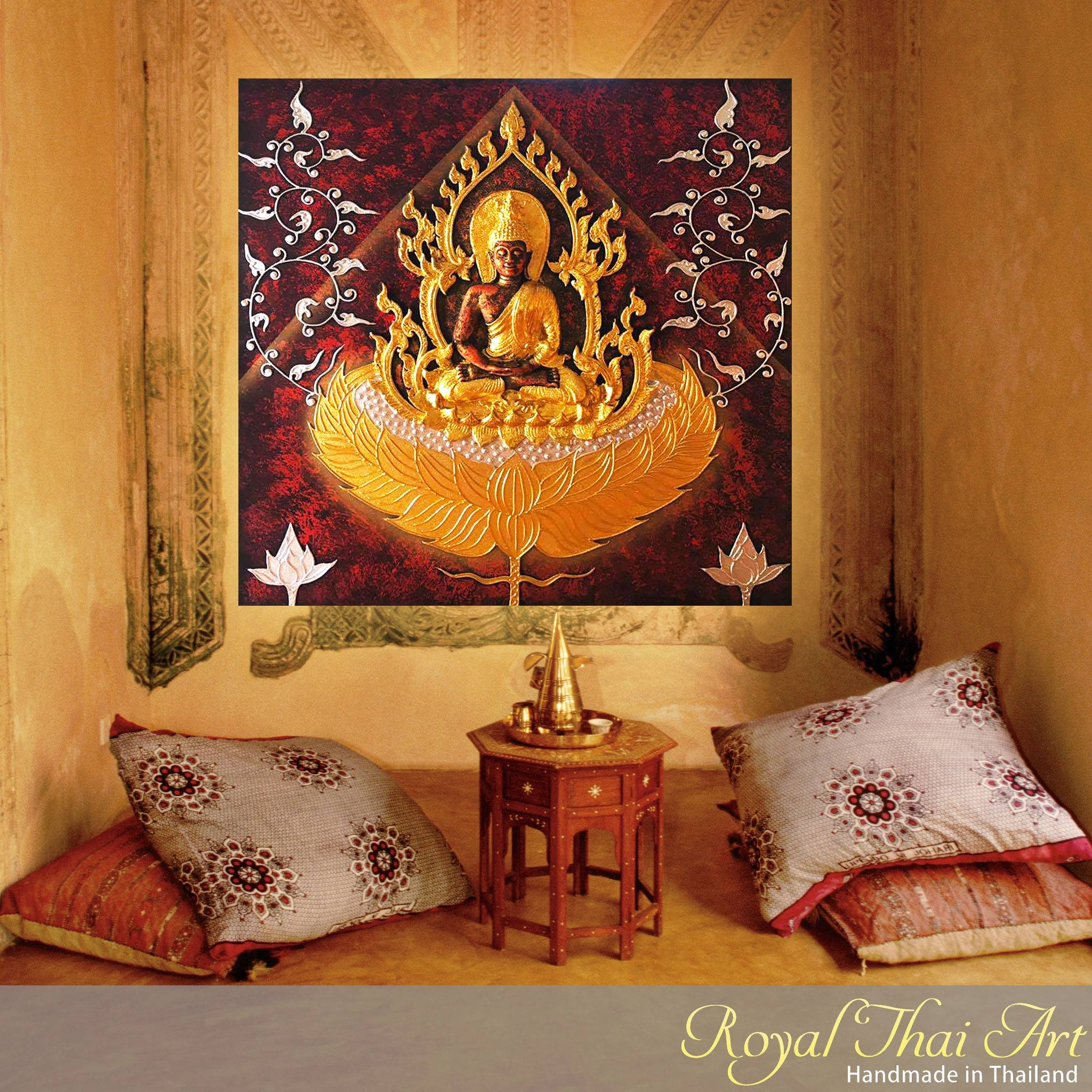 Buddha Painting 3d Handmade Gold Statue | Royal Thai Art Regarding Most Current 3d Buddha Wall Art (View 16 of 20)