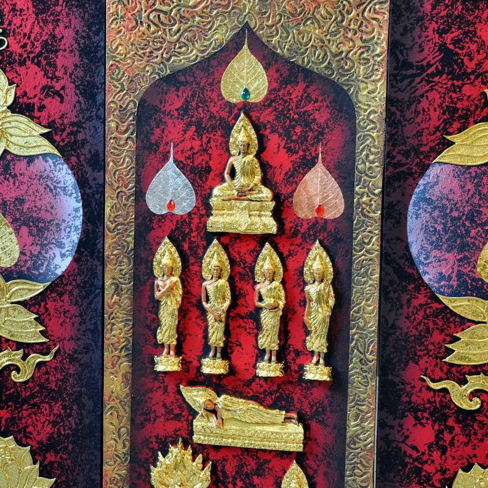 Buddhism Art 3D Seven Day Postures | Royal Thai Art Throughout Recent 3D Buddha Wall Art (View 10 of 20)
