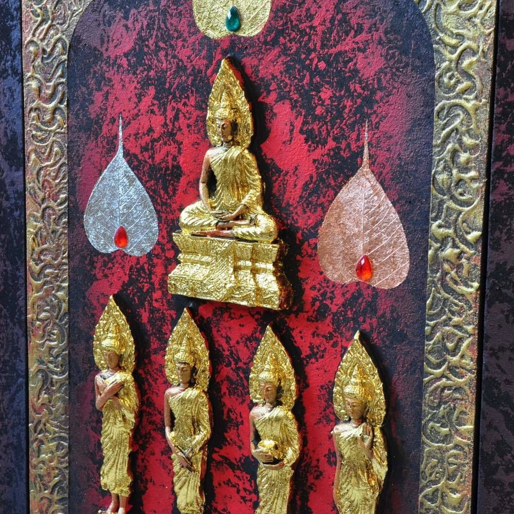 Buddhism Art 3D Seven Day Postures | Royal Thai Art With Most Up To Date 3D Buddha Wall Art (View 11 of 20)