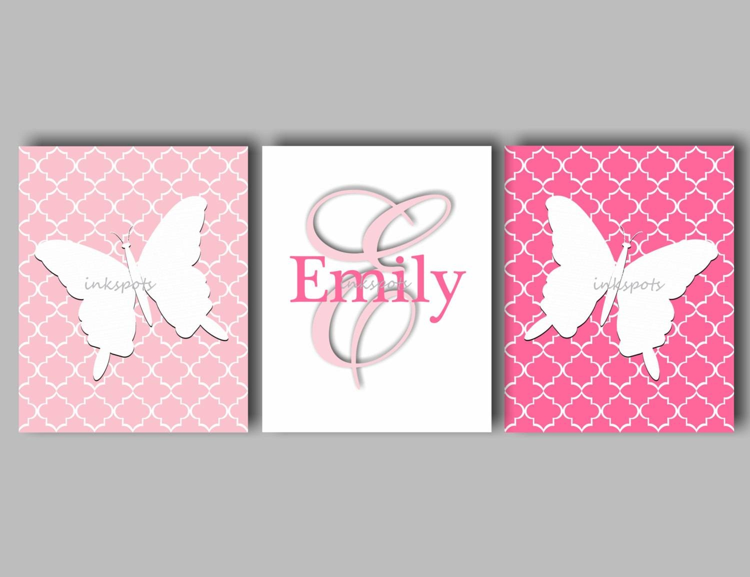 Butterfly Butterfly Nursery Butterfly Bedding Butterfly Pertaining To Best And Newest Pink Butterfly Wall Art (View 6 of 20)