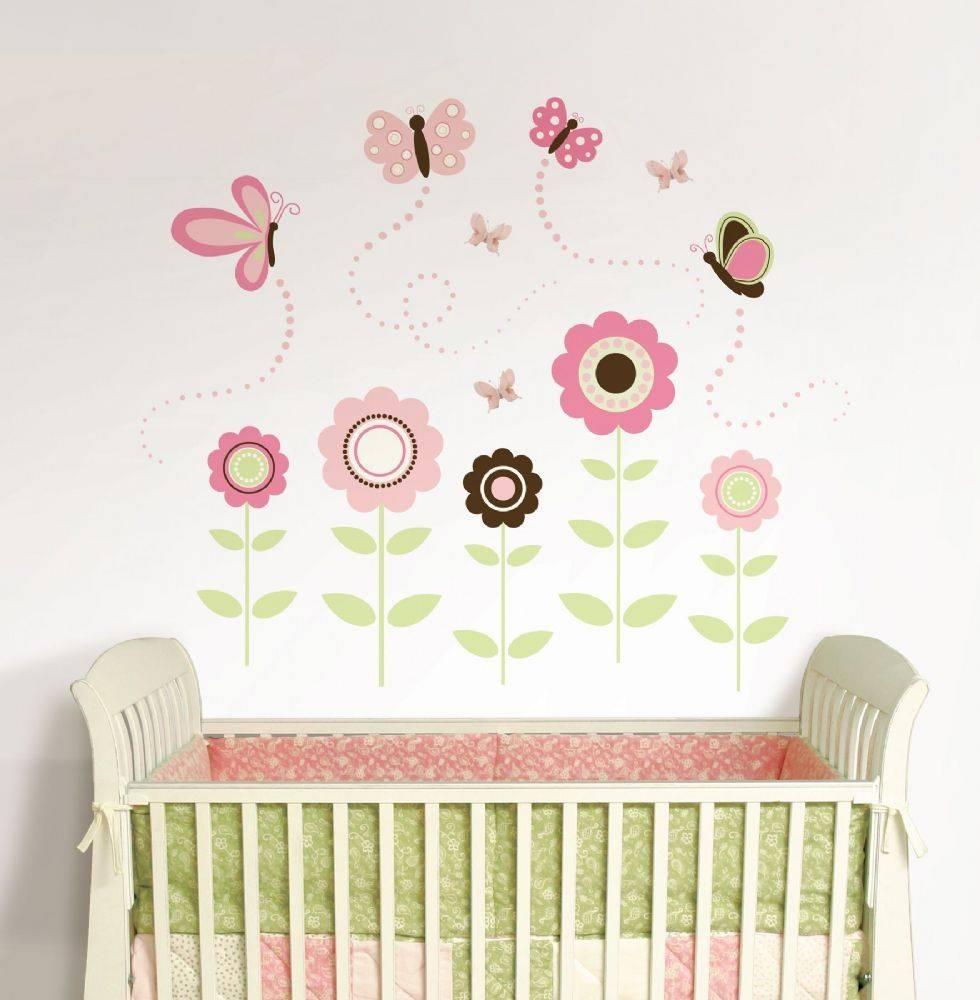 Butterfly Garden Wall Art Sticker Kit Regarding Current Butterflies Wall Art Stickers (View 20 of 20)
