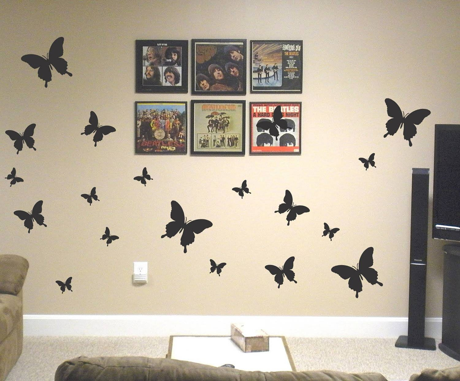 Butterfly Wall Art Decals | Wallartideas In Best And Newest Wetherill Park 3D Wall Art (View 6 of 20)