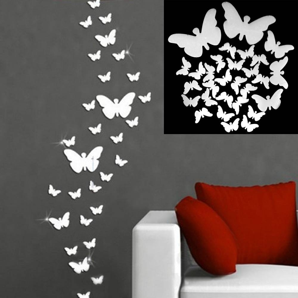 Butterfly Wall Art Diy – Wall Murals Ideas With Best And Newest Diy 3D Wall Art Butterflies (View 11 of 20)