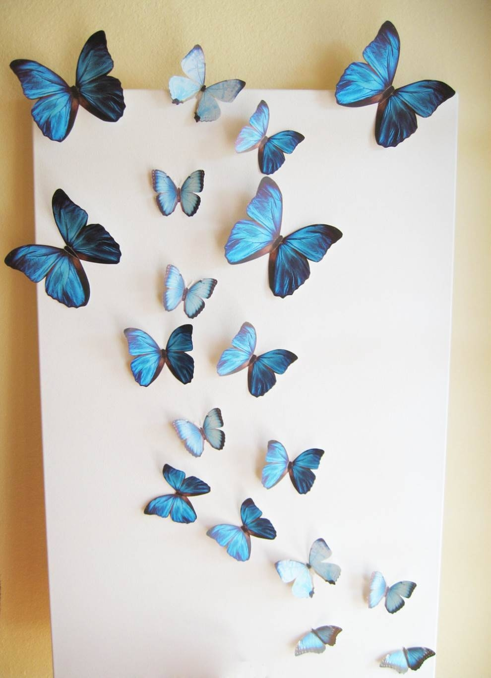 Butterfly Wall Decor 3D – Homeremodelingideas In Newest Ceramic Butterfly Wall Art (View 15 of 30)