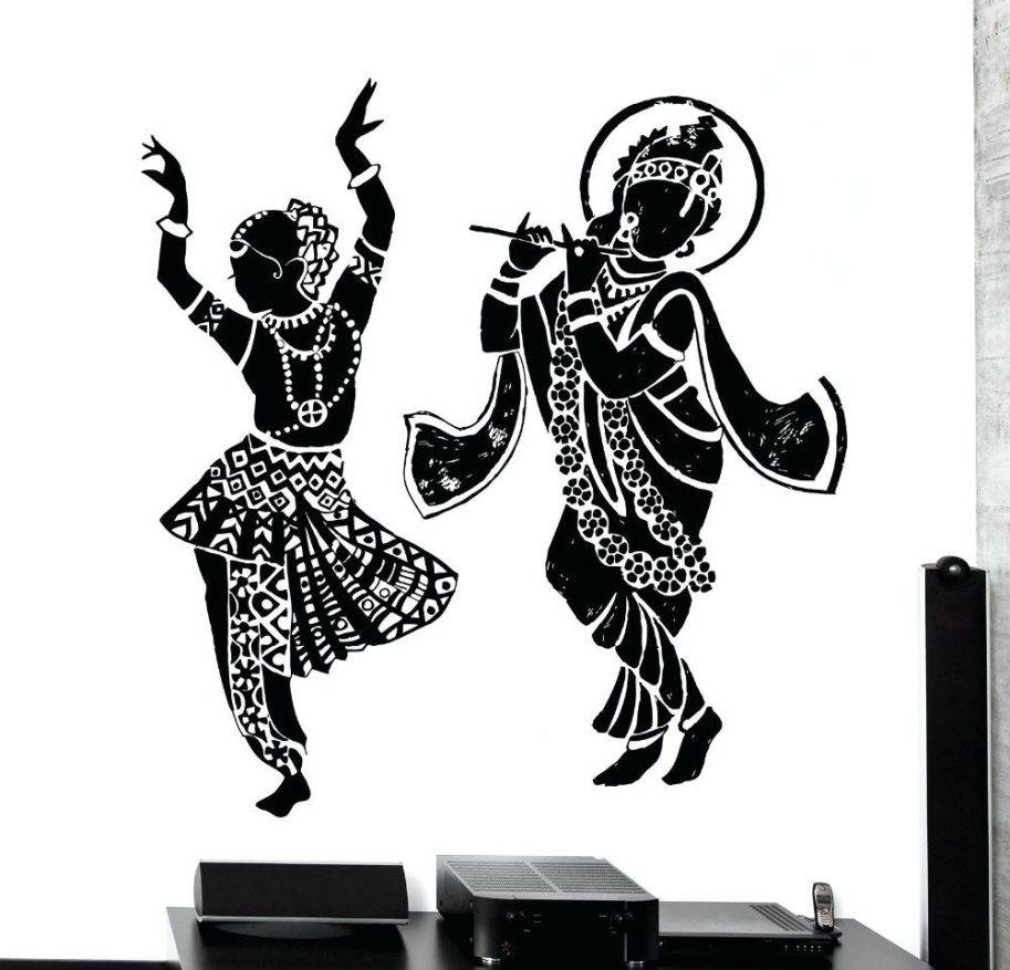 Buy Dance Wall Sticker Home Decor Decal Elephant Om Yoga God From With Regard To 2017 Ganesh Wall Art (View 9 of 20)