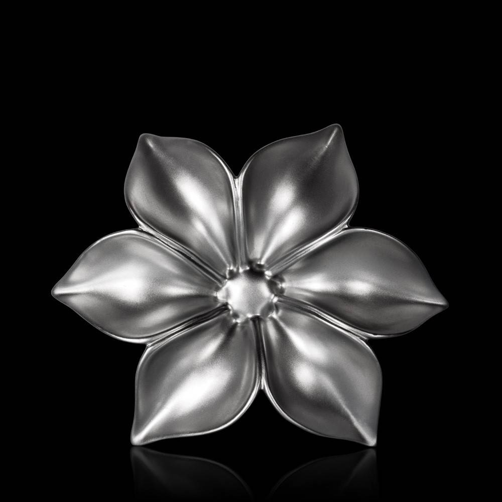 Buy Fleur Large Silver Ceramic Wall Art Online In India – Addresshome Throughout Newest Large Ceramic Wall Art (View 15 of 25)