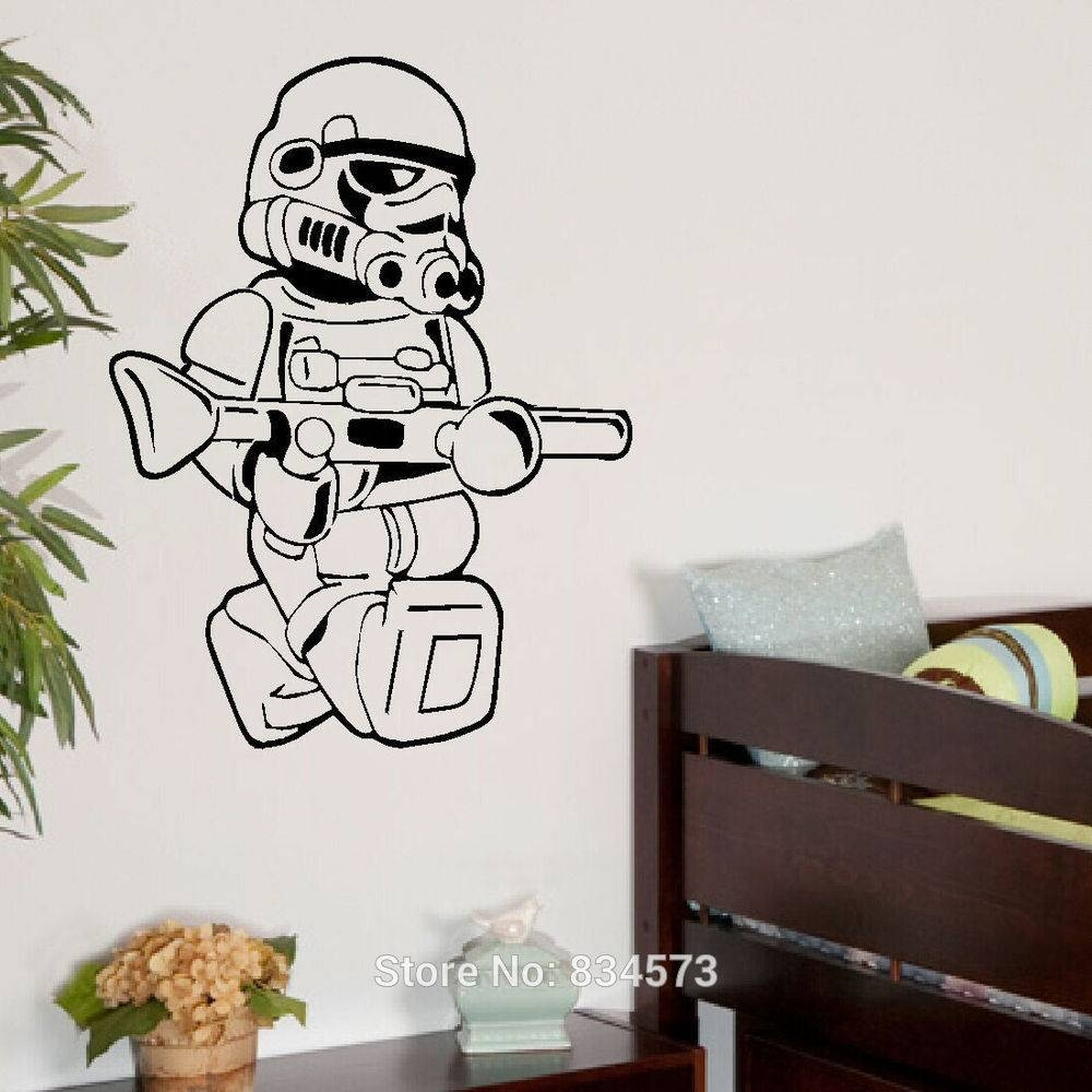 Buy Star Wars Lego Men Storm Trooper Wall – Wall Decorations For For Most Recently Released Lego Star Wars Wall Art (View 4 of 20)