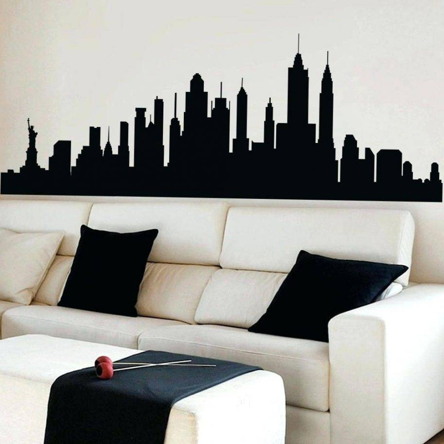 Buy Wall Decal New York City Skyline Cityscape Travel Vacation With Most Popular Ash Carl Metal Art (View 21 of 30)
