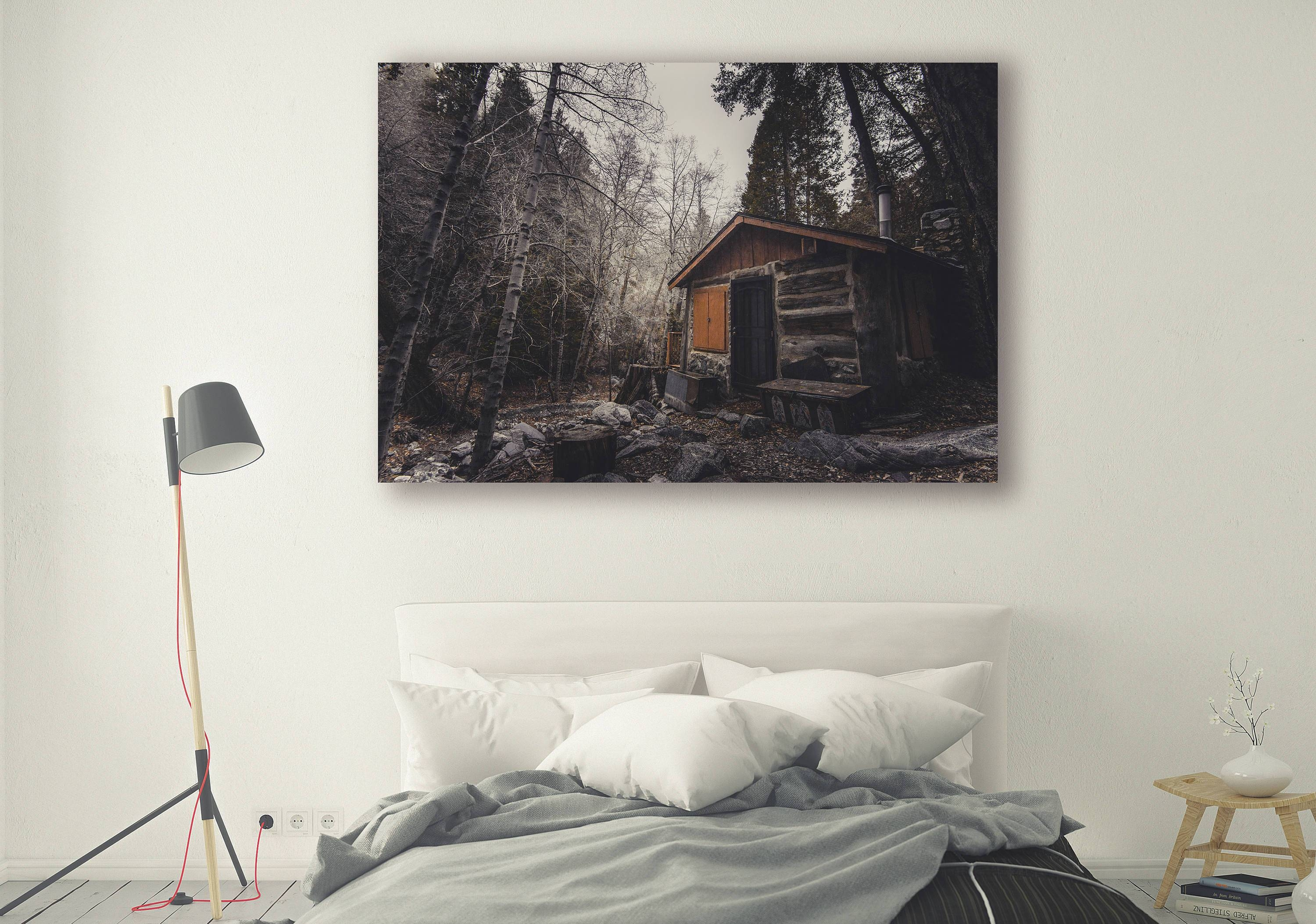 Cabin Print, Large Wall Art Print, Cabin Porn, Fine Art Pertaining To Most Current Neutral Wall Art (View 13 of 15)