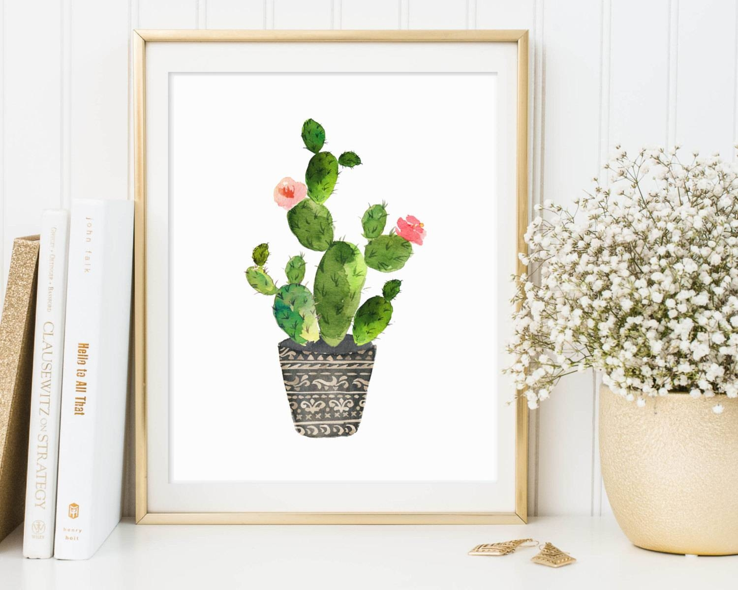 Cactus Print Cactus Printable Cactus Wall Art Botanical Intended For Current Botanical Prints Etsy (View 7 of 20)