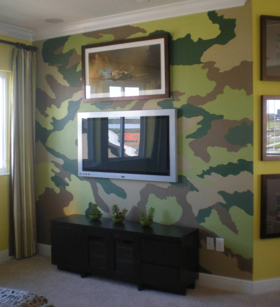 Camo Wall Art Murals Ideas Intended For Newest Camouflage Gallery 4
