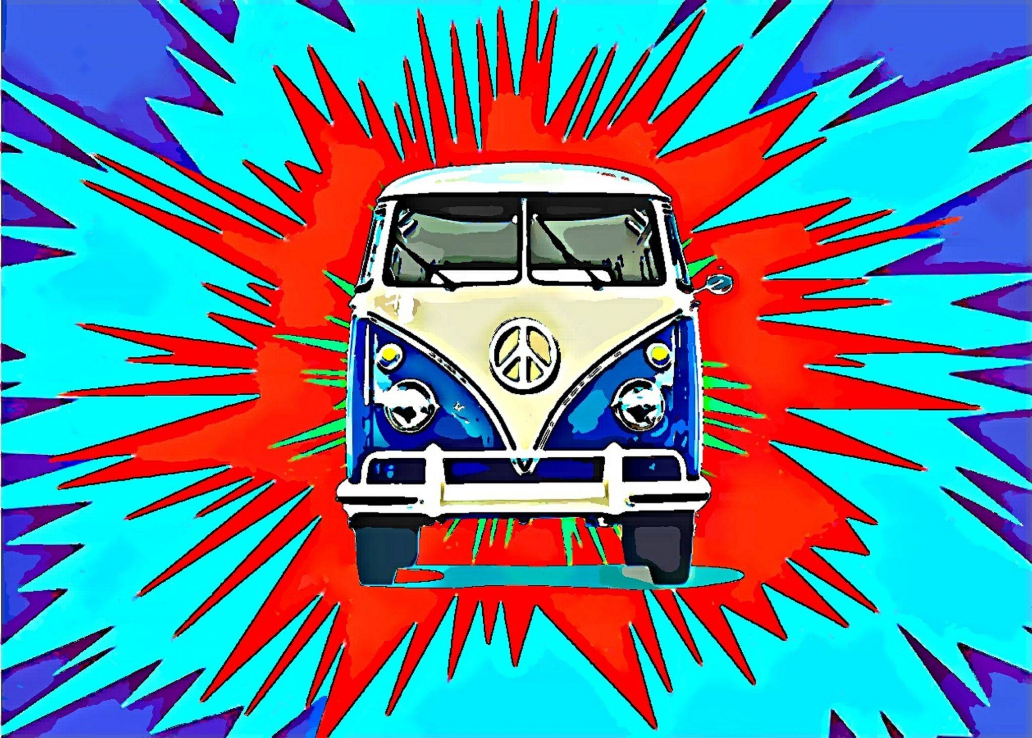Camper Van Volkswagen Explosion Metal Wall Plaque From My Original Throughout 2017 Campervan Metal Wall Art (View 1 of 20)