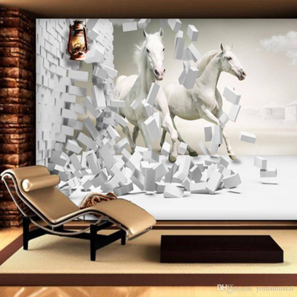Canada Horse Mural Wallpaper Supply, Horse Mural Wallpaper Canada Pertaining To Most Current 3D Horse Wall Art (View 11 of 20)