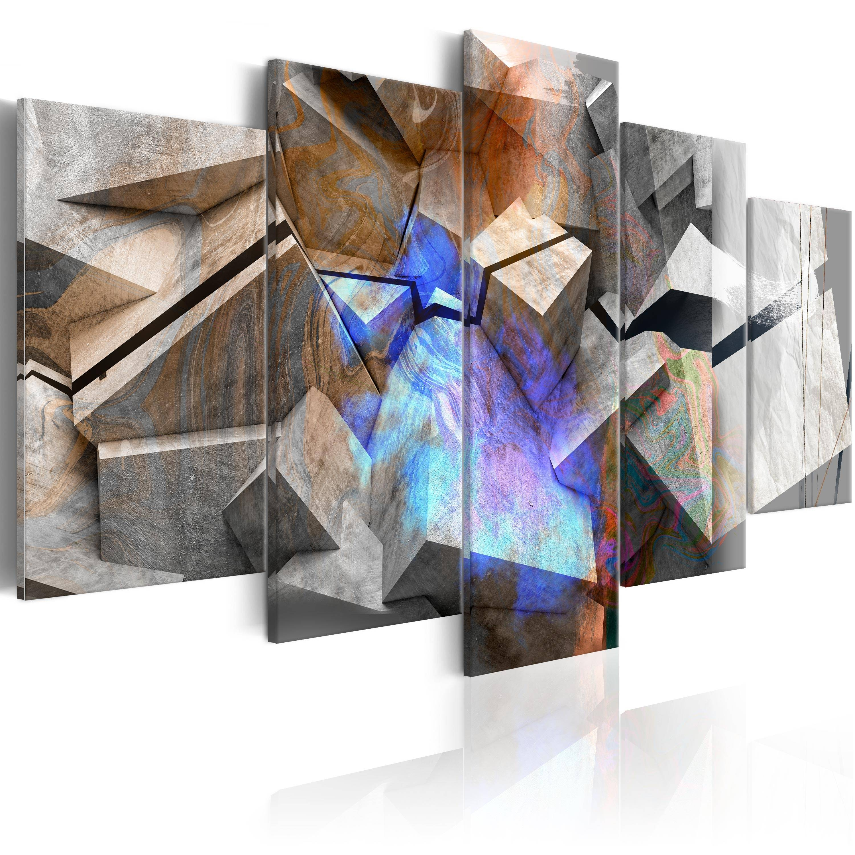 Canvas Abstract Wall Art Print Image Picture Photo 3D Optic A A Regarding 2018 Abstract Wall Art 3D (View 7 of 20)