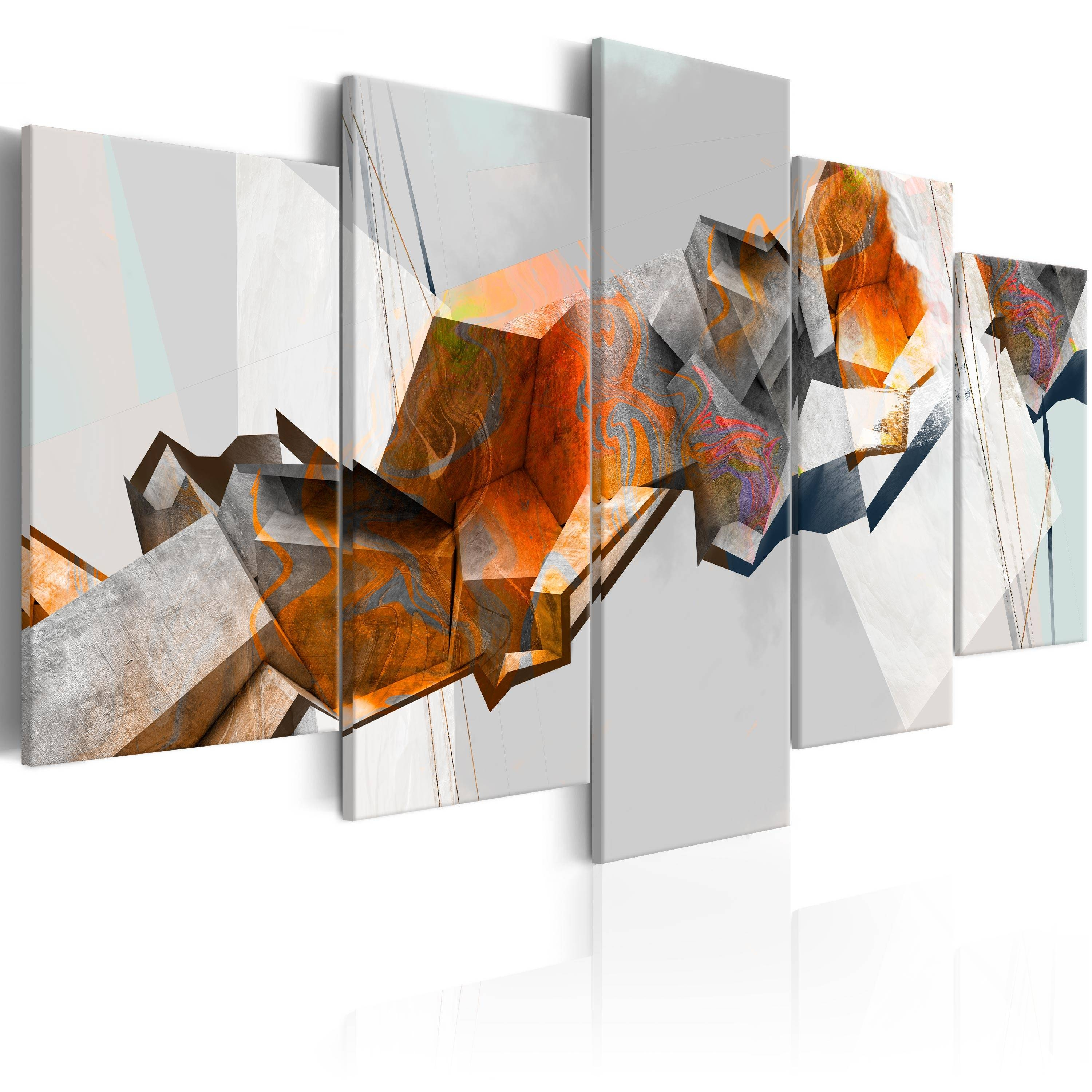 Canvas Abstract Wall Art Print Image Picture Photo 3D Optic A A With 2018 Abstract Wall Art 3D (View 8 of 20)