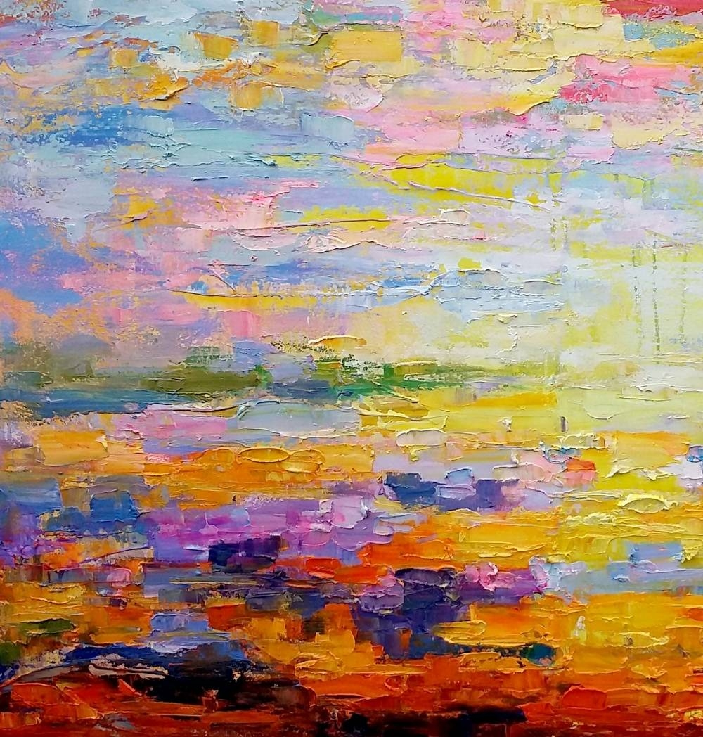 Canvas Art, Abstract Art, Original Wall Art, Landscape Painting In Most Recently Released Oil Painting Wall Art On Canvas (View 7 of 20)