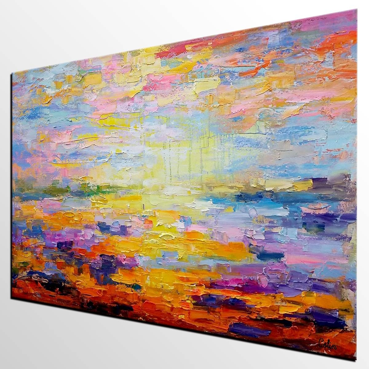 Canvas Art, Abstract Art, Original Wall Art, Landscape Painting In Newest Oil Painting Wall Art On Canvas (View 18 of 20)