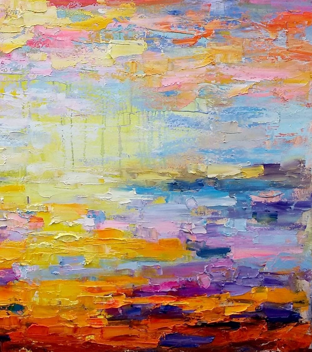 Canvas Art, Abstract Art, Original Wall Art, Landscape Painting With Regard To Recent Oil Painting Wall Art On Canvas (View 9 of 20)