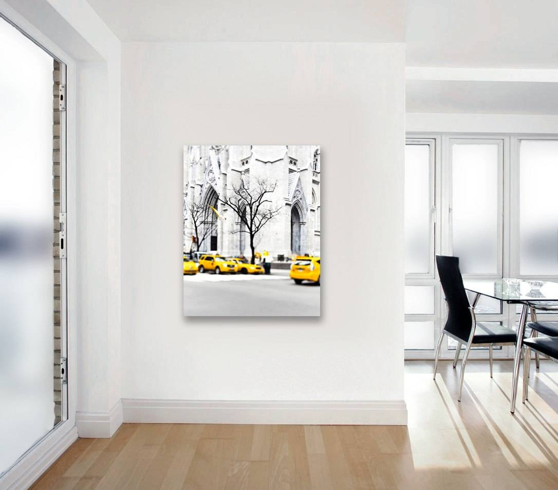 Canvas Art New York City Yellow Taxis Black And White New Regarding Current Large Yellow Wall Art (View 4 of 20)