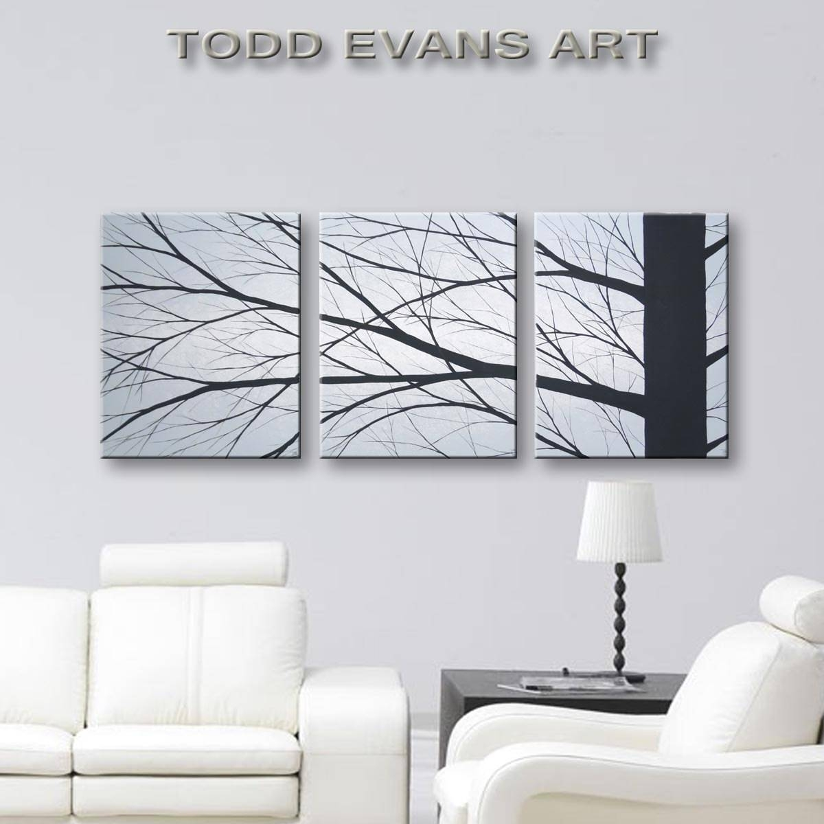 Canvas Art Original Painting Bedroom Wall Art 3 Piece Wall Within Best And Newest 7 Piece Canvas Wall Art (View 8 of 20)
