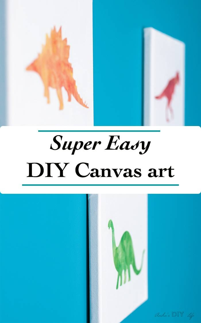 Canvas Craft Idea – Turn Any Printable Into Canvas Art – Anika's Pertaining To Most Current Dinosaur Canvas Wall Art (View 7 of 15)