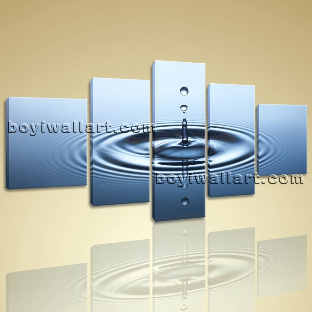 Canvas Hd Print Water Drop Contemporary Wall Art Abstract Home In Most Recent Contemporary Wall Art (View 14 of 20)